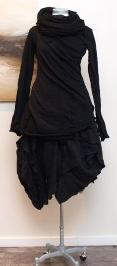 rundholz - Pullover Wickel gekochte Wolle black - Winter 2013