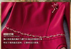 2016新款女装秋冬气质修身打底ol包臀短裙印花红色礼服长袖连衣裙-tmall.com天猫