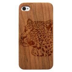Real Natural Wood Grain and Finish on durable black plastic protective case Leopard Wood, African Leopard, Laser Engraving, Wood Grain, Protective Cases, Natural Wood, Cork, Phone Cases, Animals