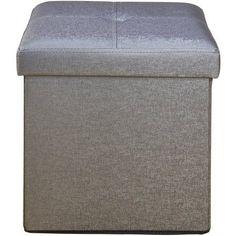 Single Folding Ottoman, Multiple Colors, Gray
