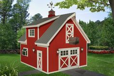 Barn House Plans, Barn Plans, Shed Plans, Garage Building Plans, Garage Plans With Loft, Garage Ideas, Carport Ideas, Modern Farmhouse Plans, Farmhouse Style