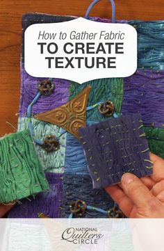 How to Gather Fabric to Create Texture, Textile Manipulation, Fabric Manipulation Techniques, Textiles Techniques, Art Techniques, Quilting For Beginners, Quilting Tutorials, Quilting Projects, Art Quilting, Quilting Patterns