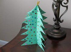 Pop-Out Christmas Tree Craft: Christmas Crafts - Easy Crafts for Kids - Kaboose.com