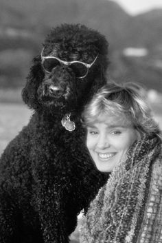 Jessica Lange and Poodle Friend....