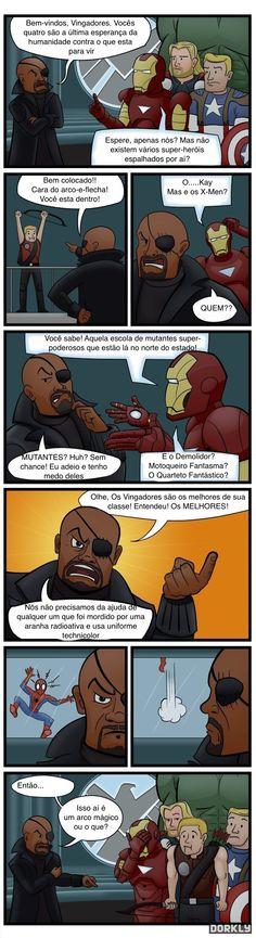O que esta errado em Os Vingadores