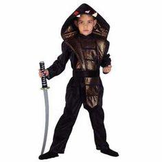 Ninja Κόμπρα φίδι στολή Νίνζα για αγόρια με μαύρη ζώνη