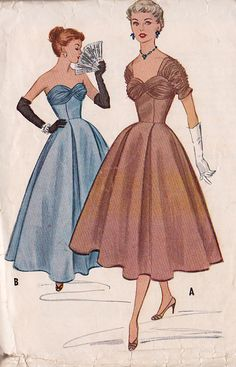 Site with old patterns for sale, ones as far as back the 30's...pretty neat if you wanted to make something with a vintage look