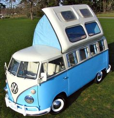How sweet is this ride?!? I'm salivating just looking at her!!!  Vintage RV – 1964 Restored VW Bus Camper