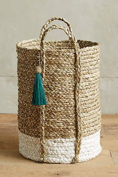 Balinese Tassel Baskets - anthropologie.com