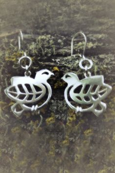 Earrings | Paarma Design Rock ptarmigan Arctic inhabitant of bare, rocky slopes www.paarmadesign.fi Arctic, Finland, Silhouette, Jewellery, Rock, Earrings, Design, Ear Rings, Jewels