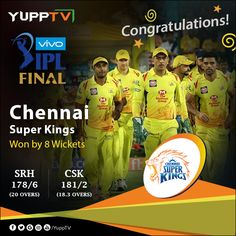 One more time. Chennai Super Kings are the Champions and sealed their third Trophy . SunRisers Hyderabad lost time in this series. Best Run Chase in IPL Final! World Cricket, Test Cricket, Chennai Super Kings, Finals, Congratulations, Lyrics, Hyderabad, Third, Ms