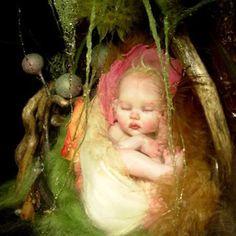 Elves Faeries Gnomes: Baby Faery, by B. Fairy Dust, Fairy Land, Fairy Tales, Baby Fairy, Love Fairy, Fantasy World, Fantasy Art, Troll, Kobold