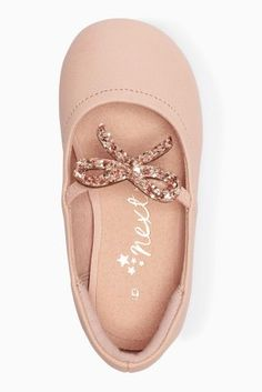 1833ee23e0c8 Buy Glitter Bow Pumps (Younger Girls) online today at Next  United States  of America