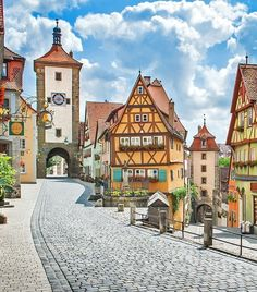 Beautiful view of the historic town of Rothenburg ob der Tauber, Franconia, Bavaria, Germany | 10 Life-Changing Trips You Need to Take