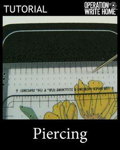 Paper piercing Tutorial