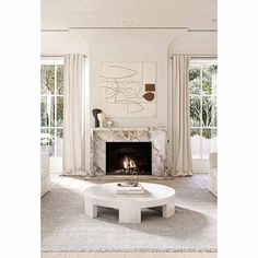 Los Angeles Residence by Conrad Architects - AboutDecorationBlog Marble Fireplace Surround, Marble Fireplaces, Fireplace Surrounds, Home Fireplace, Fireplace Remodel, Fireplace Design, Fireplace Modern, Fireplace Windows, Fireplace Lighting
