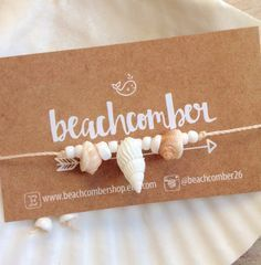 beach anklet shell anklet beachcomber jewelry by beachcombershop