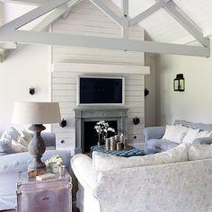 White East Coast style living room