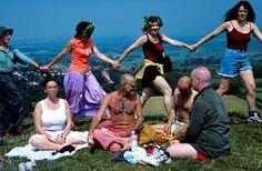 Dancing on Glastonbury Tor