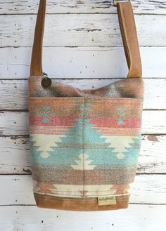 Cross body Camera Travel bag in Waxed Canvas & Navajo by DarbyMack