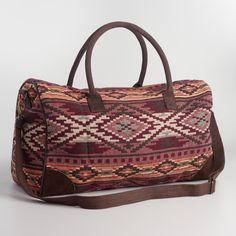 Great whatever your mode of travel, our woven overnight bag features faux suede…