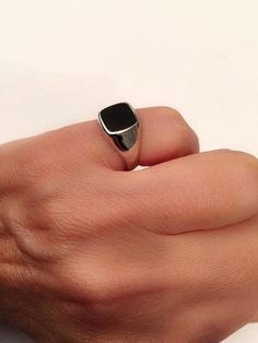 Sterling Silver Signet Ring Band Solid 2 mm D//C Fancy Signet Ring