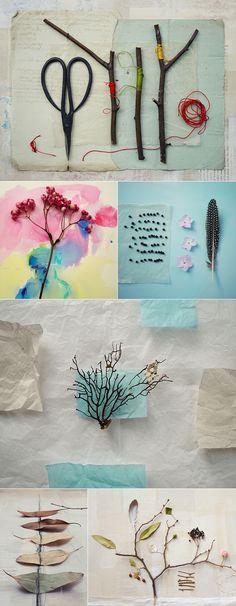 artful arrangements by Fiona Watson - berries inspired me-smooshed berries=watercolour background