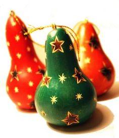 Décoration de sapin de Noël équitable artisanale : calebasse gravée du Pérou #NoelResponsable #DécoSapinArtisanale