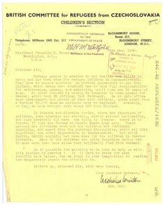 In 1939, Nicholas Winton sent a letter to FDR asking to help him evacuate Jewish children from Czechoslovakia. Follow the link to read the story.