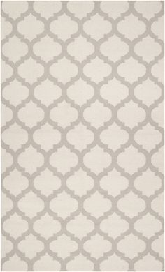 White and Oatmeal Trellis Frontier Rug by Surya, Patterned Rugs, Rugs for Children