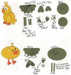 Bonnie's Creative Place: Free Fun Chicken Punch Art