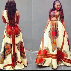 Dashiki long gown by AFROCOLLECTION2015 on Etsy
