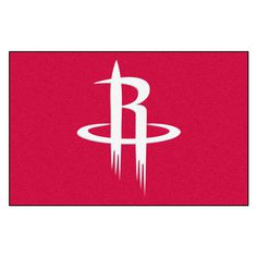 NBA Houston Rockets Black 1 ft. 7 in. x 2 ft. 6 in. Accent Rug