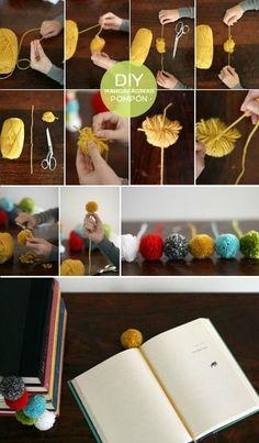 yarn puffs balls 10 regalos DIY que te da tiempo a hacer antes de Reyes by inez