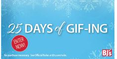 Enter BJ's 25 Days of GIF-ing Giveaway for your chance to win some of this season's top gifts!