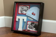 DIY Shadowbox for the little guy who loves firetrucks! From Mama Say What?!