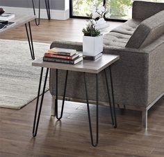 $49 Amazon.com: Altra Owen Retro End Table, Sonoma Oak/Gunmetal Gray: Kitchen & Dining