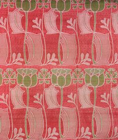 Furnishing Fabric, by Harry Napper (1860-1930), made by J.W. & C.Ward of Halifax. Woven silk & wool. England, c.1900. V&A Prints