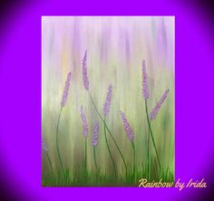 Handmade acrylic painting,abstract art, painting on canvas,flowers,purple and green by RainbowByIrida on Etsy