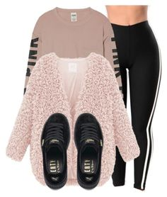 """Untitled #1527"" by shyannelove123 ❤ liked on Polyvore featuring Victoria's Secret and Puma"