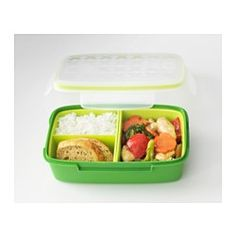 "FESTMÅLTID Lunch box - 8 ¾x5 ½x2 ¾ "" - IKEA - Love it and it's much less expensive than similar things found in the stores that are NOT leakproof."