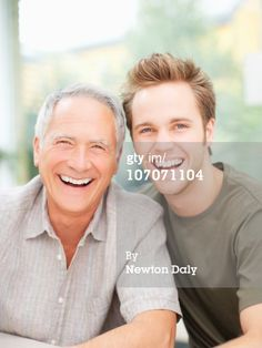 Royalty-free Image: Portrait of mature father and adult son                                                                                                                                                                                 More