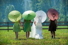 loved our parasols! #wedding #parasols
