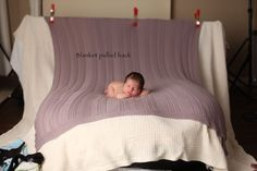 Newborn Photography: put blamket in dryer to be warm for newborn and take out wrinkles