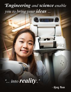 AJung Moon is a PhD Student studying human-robot interaction and robotethics at the University of British Columbia. Read about what led her to pursue this unique field of study, and her advice for high school girls considering a career in STEM! #womeninSTEM #ubc