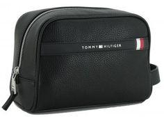 !!!Washbag Tommy Hilfiger Downtown Black schwarz Tommy Hilfiger, Kate Spade, Bags, Dopp Kit, Artificial Leather, Handbags, Bag, Totes, Hand Bags