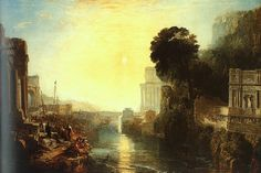Dido Building Carthage, or The Rise of the Carthaginian Empire by Joseph Mallord William Turner 1815 oil on canvas The National Gallery, London Carthage, Top Paintings, Most Famous Paintings, Joseph Mallord William Turner, Henri Rousseau, Henri Matisse, Paul Gauguin, Pierre Auguste Renoir, Turner Painting