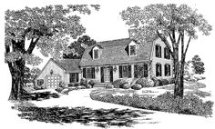 Cape Cod House Plan with 2006 Square Feet and 3 Bedrooms from Dream Home Source | House Plan Code DHSW37610