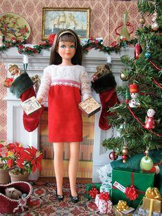 Madame Alexander, Christmas Barbie, Merry Christmas, Christmas Morning, Christmas Stocking, Christmas Time, Christmas Decor, Barbie Sisters, Barbie Family
