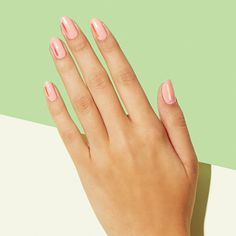 Strip Tease - We love playing with strips of metallic nail art tape. This season, take the minimalist approach with just a piece on the left side of each nail. Pick a pastel shade to brighten up those gloomy fall days.